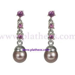 Pendientes perlas Majoricas y cristal