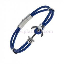 Pulsera ancla azul