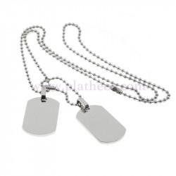 Placa militar acero dobles