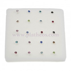 Piercings nariz piedra color